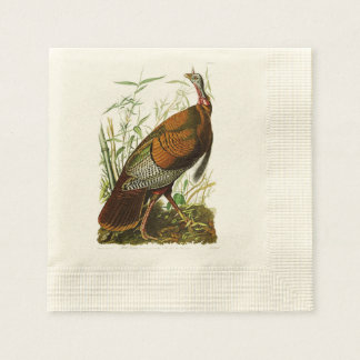 Pájaros salvajes de Turquía John James Audubon de Servilletas Desechables