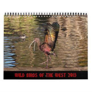 Pájaros salvajes del calendario de pared del oeste