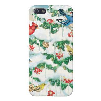 Pájaros salvajes en naturaleza con el árbol de nav iPhone 5 cobertura