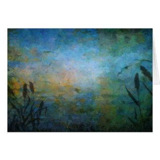 Pájaros sobre el lago tarjeta de felicitación