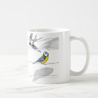 pájaros taza de café
