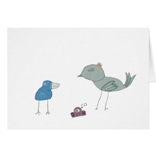 Pájaros tontos tarjeta de felicitación