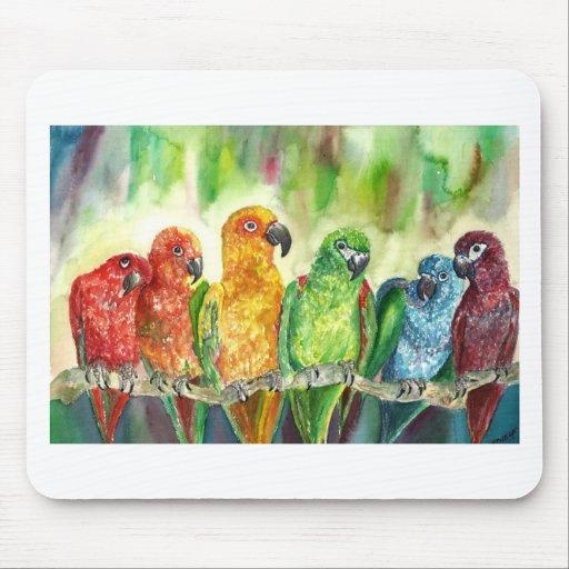 Pájaros tropicales tapetes de ratón