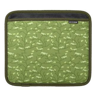Pájaros verdes de la selva mangas de iPad