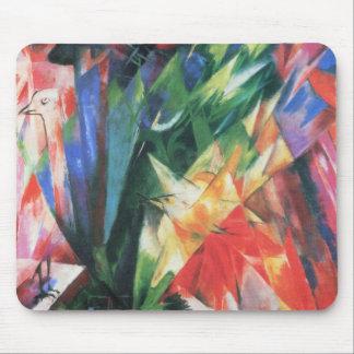 Pájaros (Vogel) por Franz Marc, arte del cubismo Tapete De Ratones