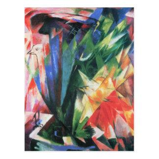 Pájaros (Vogel) por Franz Marc, arte del cubismo Tarjeta Postal