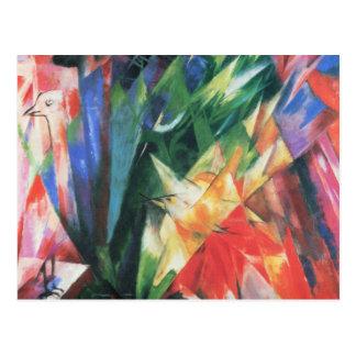 Pájaros (Vogel) por Franz Marc, arte del cubismo Tarjetas Postales