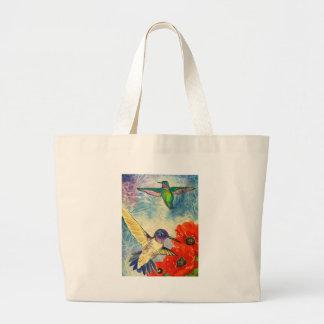 Pájaros y amapolas del tarareo bolsas