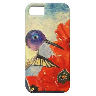 Pájaros y amapolas del tarareo iPhone 5 Case-Mate cobertura