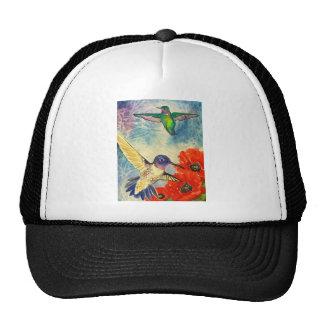 Pájaros y amapolas del tarareo gorro