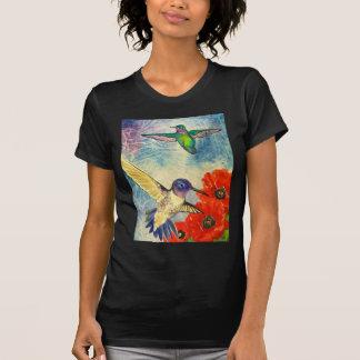 Pájaros y amapolas del tarareo playera