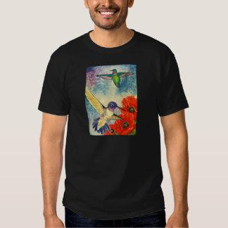 Pájaros y amapolas del tarareo remeras