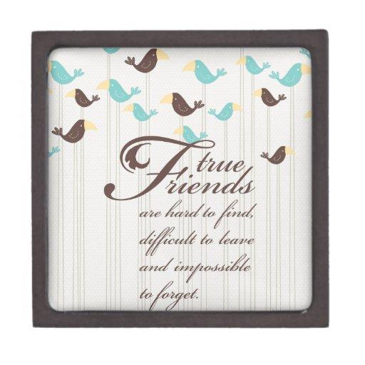 Pájaros y amigos caja de recuerdo de calidad