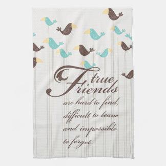 Pájaros y amigos toalla de mano
