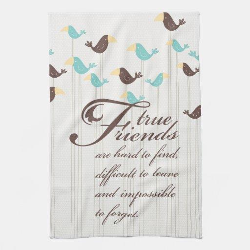 Pájaros y amigos toallas