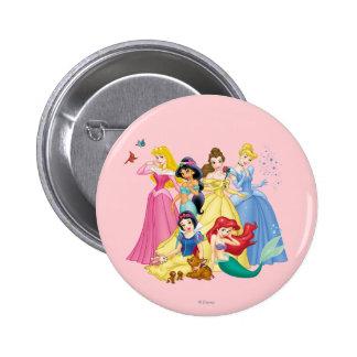 Pájaros y animales de la princesa el   de Disney Pin Redondo De 2 Pulgadas