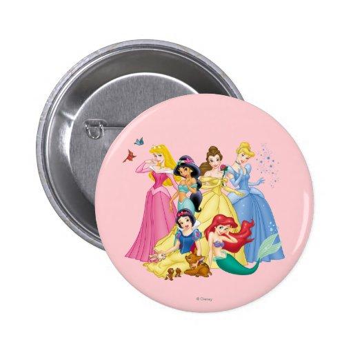 Pájaros y animales de la princesa el | de Disney Pin Redondo De 2 Pulgadas