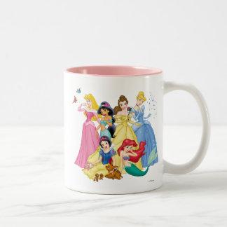 Pájaros y animales de la princesa el | de Disney Taza De Café De Dos Colores