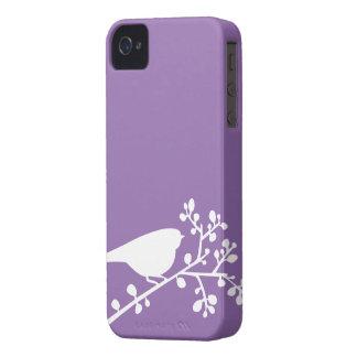 Pájaros y bayas de la MOD {escoja su color} iPhone 4 Cárcasa