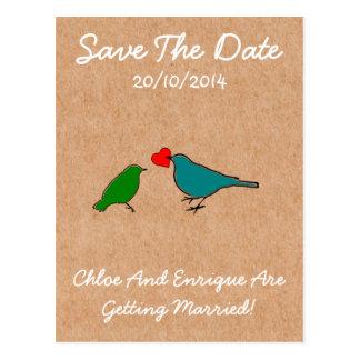 Pájaros y boda personalizado lindo del corazón del