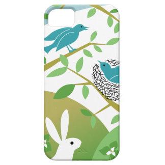 Pájaros y caso del iPhone de la primavera del iPhone 5 Fundas