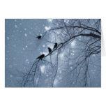 Pájaros y corazones tarjetas