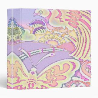 """pájaros y cuaderno en colores pastel de las carpeta 1 1/2"""""""