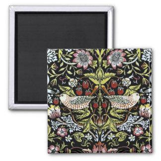 Pájaros y flores 2 de William Morris Imán Cuadrado