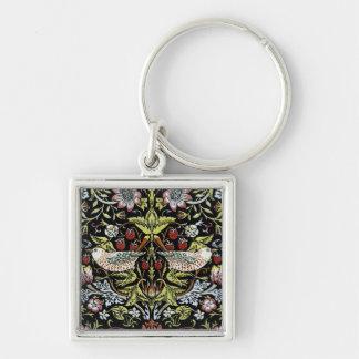 Pájaros y flores 2 de William Morris Llaveros Personalizados