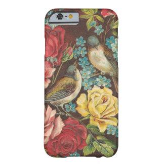 Pájaros y flores del vintage funda barely there iPhone 6