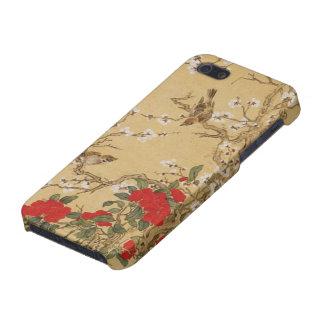 Pájaros y flores del vintage iPhone 5 carcasa