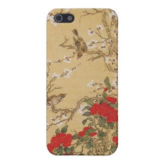 Pájaros y flores del vintage iPhone 5 fundas