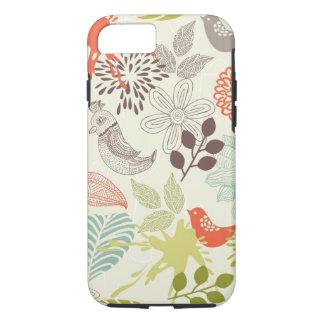 pájaros y flores funda iPhone 7
