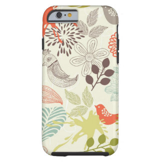 pájaros y flores funda resistente iPhone 6