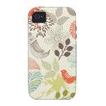 pájaros y flores iPhone 4/4S fundas