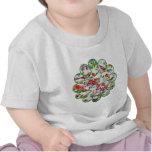Pájaros y flores tontos camisetas
