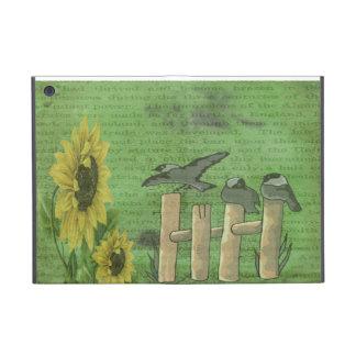 Pájaros y girasoles iPad mini fundas