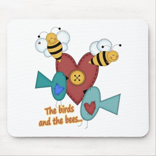 pájaros y las abejas tapetes de ratones
