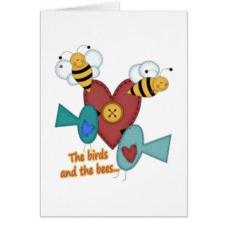 pájaros y las abejas felicitaciones