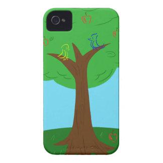Pájaros y manzanas Case-Mate iPhone 4 cárcasa