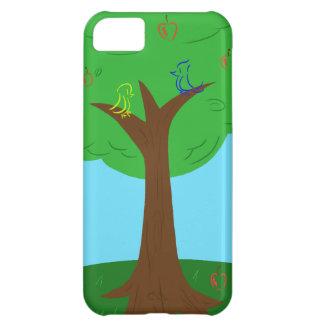 Pájaros y manzanas funda para iPhone 5C