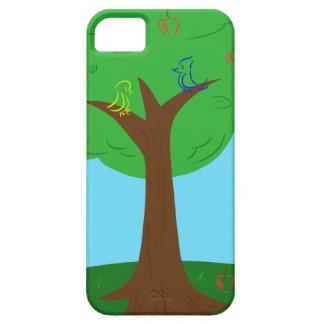 Pájaros y manzanas iPhone 5 fundas
