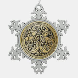 Pájaros y Negro-Ornamento célticos 3 del oro del Adorno