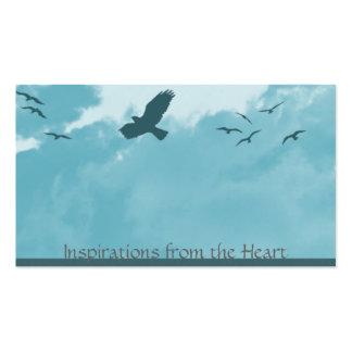 pájaros y nubes tarjetas de visita