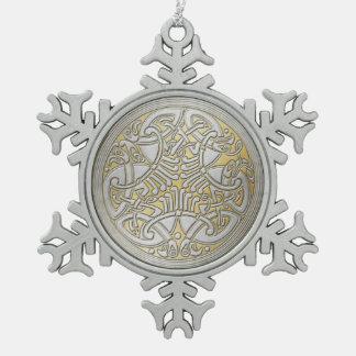 Pájaros y Oro-Ornamento célticos 2 de la plata del Adornos