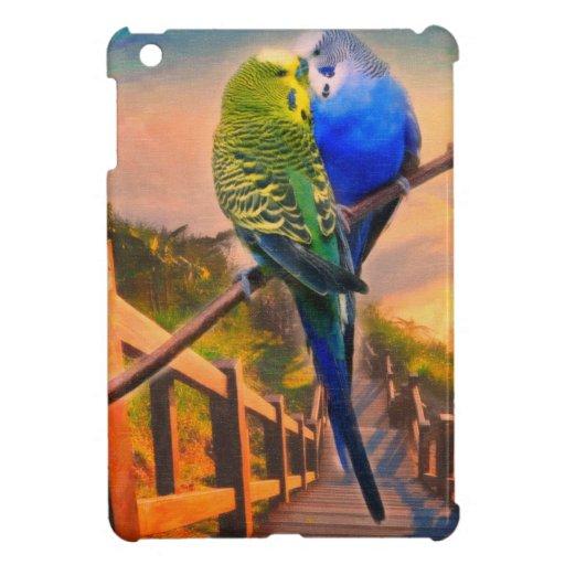 pájaros y paisaje majestuoso 2 del amor iPad mini protector