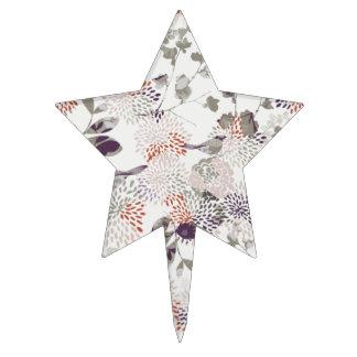 Pájaros y papel pintado púrpuras de las flores decoraciones de tartas