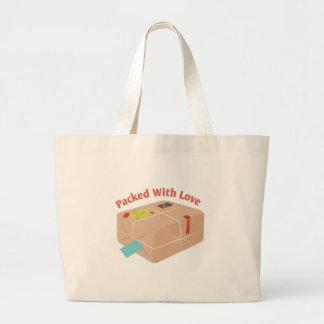 Pakced con amor bolsa tela grande