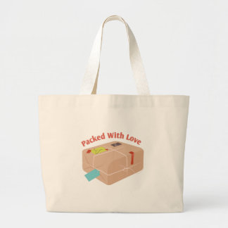 Pakced With Love Large Tote Bag