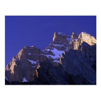 Pakistan, Baltoro Muztagh Range. Sunrise on the Postcard
